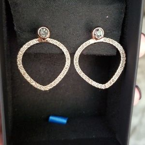 Kenneth Cole Rose Gold Ear Jackets